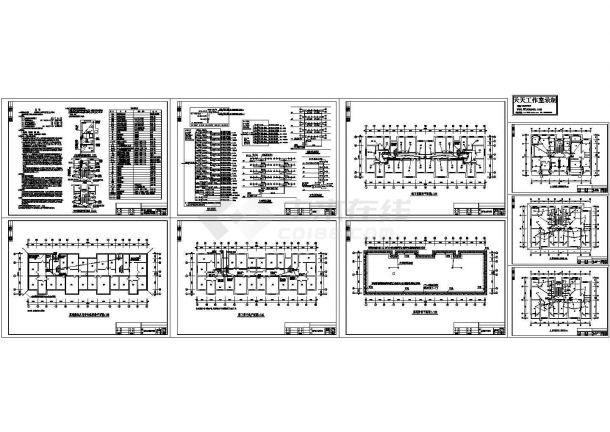 某3500㎡多层住宅楼电气设计施工图(三级负荷)设计-图一