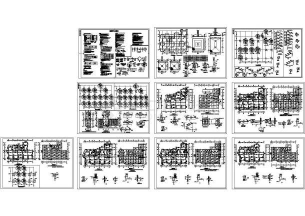 某6层框架结构住宅楼设计cad全套结构施工图(含设计说明)-图二