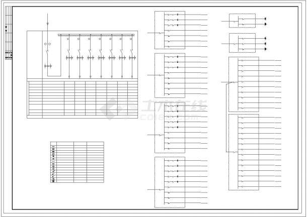 某厂房电气施工图纸(共4张图纸)-图一