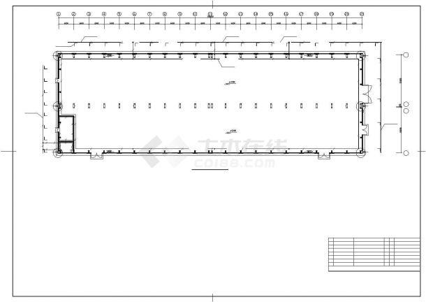 某地区机修厂房电气施工图纸-图一