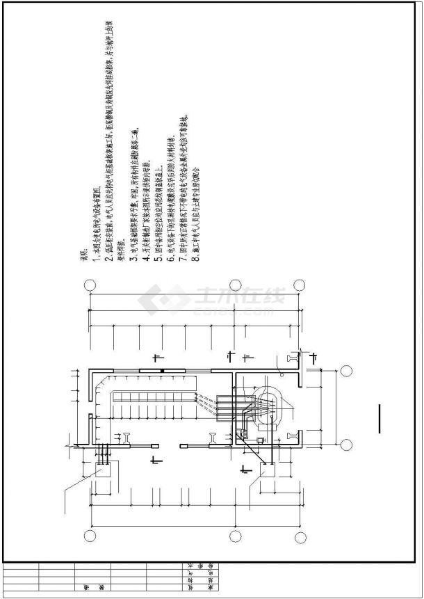 某地区机修厂房电气施工图纸-图二