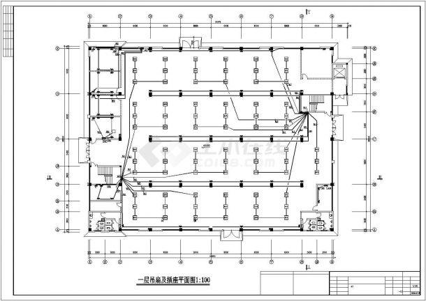 经济开发区标准厂房电气施工图纸-图一