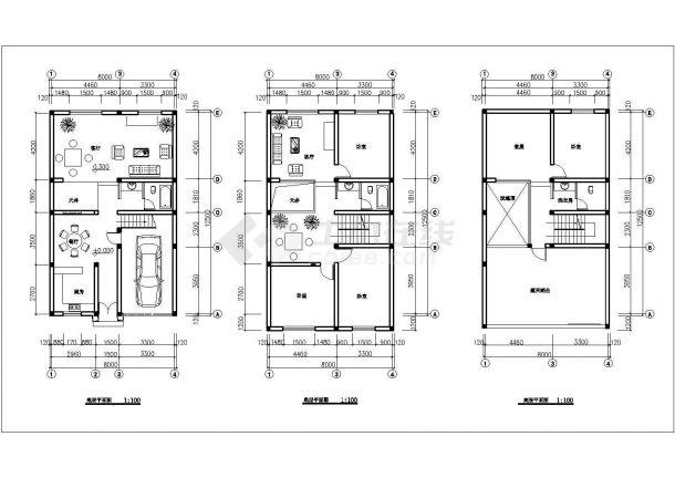 某多层框架结构民用住宅设计cad建筑方案图(含结构设计)-图一