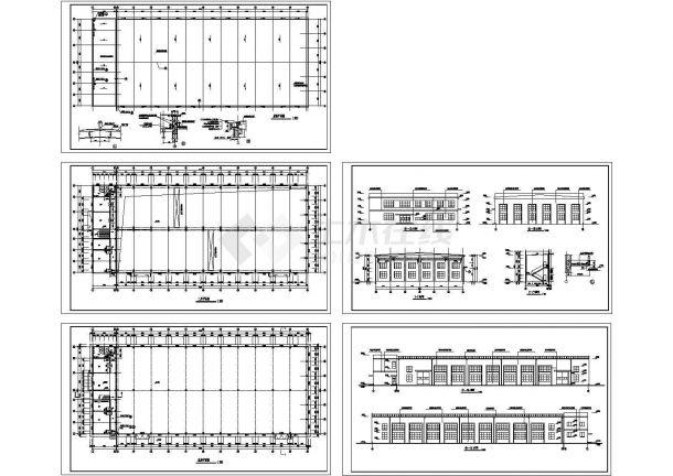某市2层厂房车间建筑设计施工图-图一