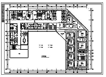 医院设计_某市医院手术室设计cad图(含平面图)-图一