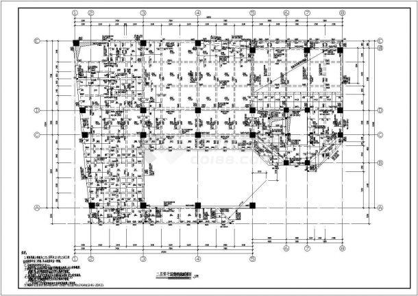 某多层框架结构住宅楼设计cad结构施工图纸-图一