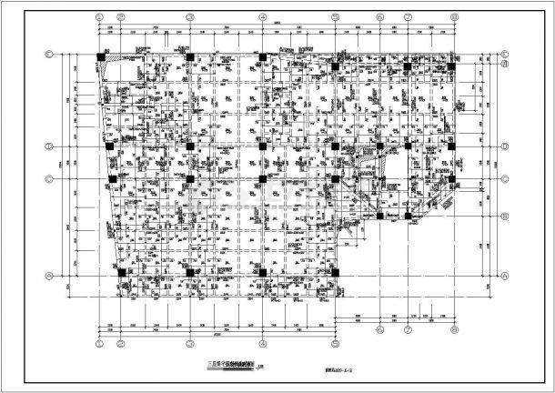 某多层框架结构住宅楼设计cad结构施工图纸-图二