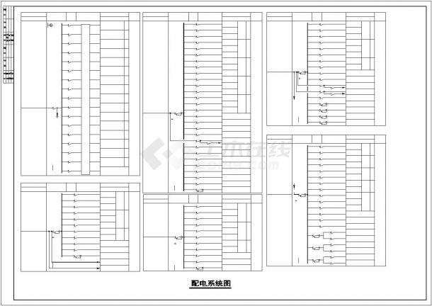 2.6万平米四层重型注塑厂房电气施工图-图二
