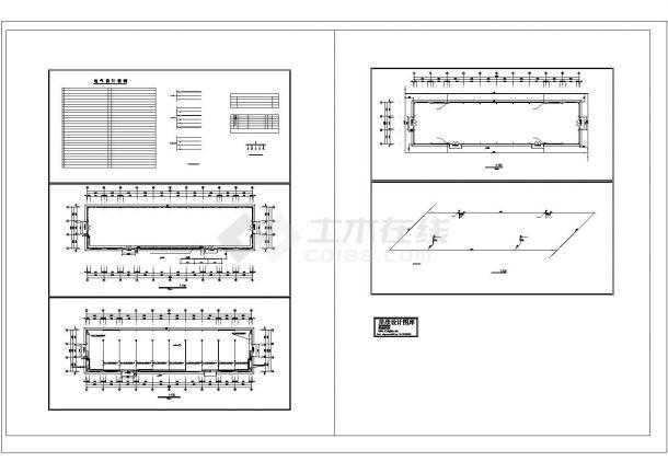单层厂房电气施工图纸-图一