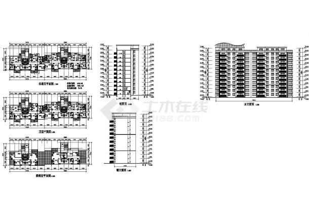高层住宅建筑设计方案图-图一