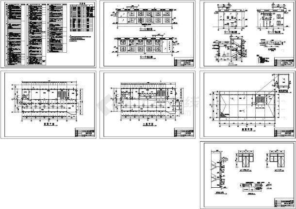 某市2层泵站主厂房土建筑设计施工图-图一