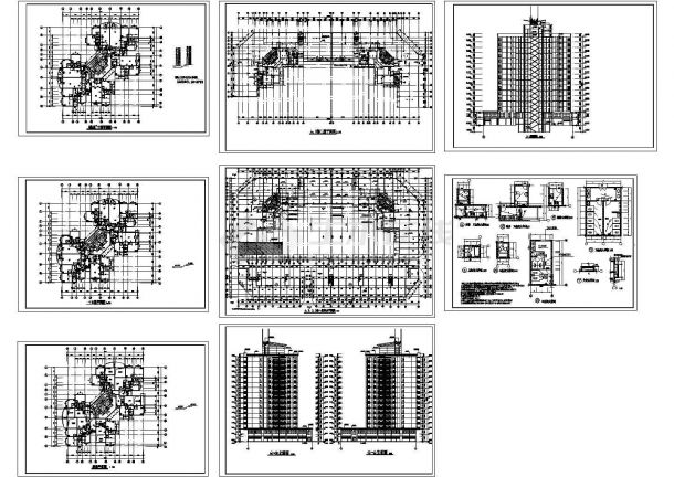 15层商住楼建筑设计CAD施工图纸-图一