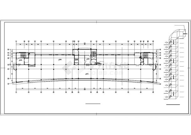 办公楼设计_大型综合办公楼中央空调cad设计图纸-图一