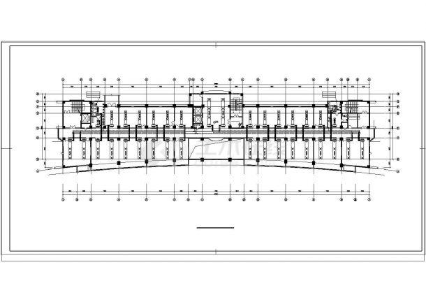 办公楼设计_大型综合办公楼中央空调cad设计图纸-图二
