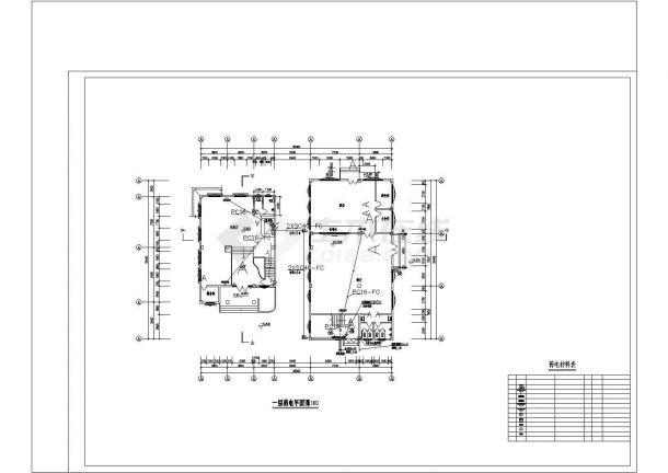 某多层职工用房及工业厂房电气CAD图-图一