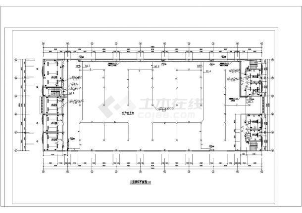 某多层职工用房及工业厂房电气CAD图-图二
