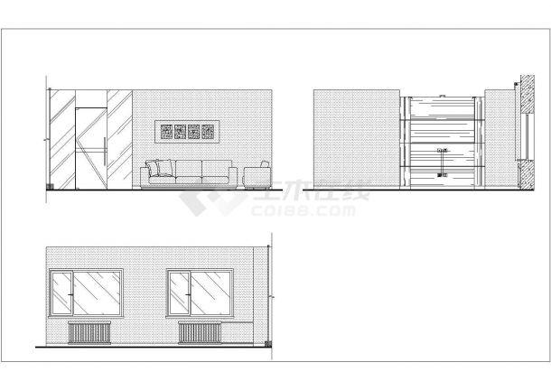 中信银行某支行办公楼室内装修设计cad全套施工图( 含水电设计)-图一