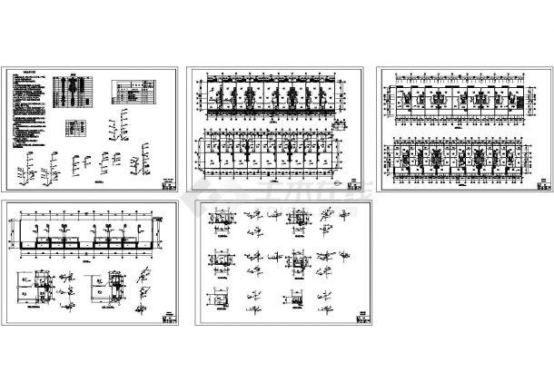 云南某仿古连排小民居住宅给排水设计图(CAD,5张图纸)-图一