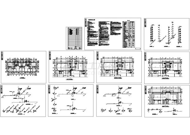 某六层住宅给排水设计施工图(CAD,10张图纸)-图二