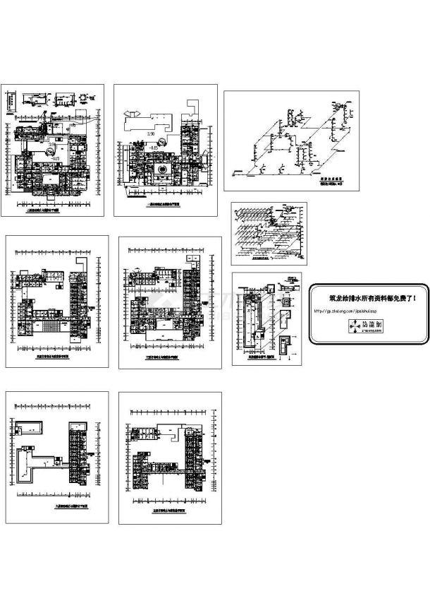 某16600㎡六层医院给排水施工图-图二