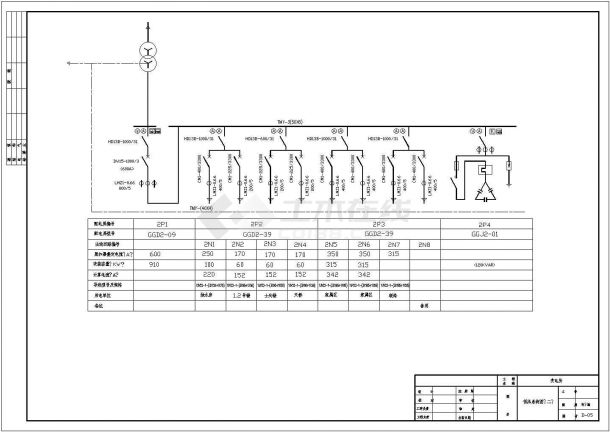 某10KV高压变电所设计cad全套电气施工图纸-图一