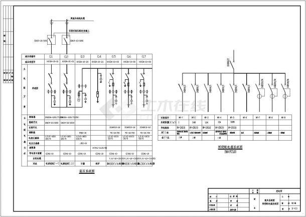 某10KV高压变电所设计cad全套电气施工图纸-图二