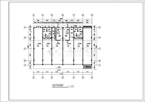 某多层框架结构商住楼设计cad建筑施工图(含设计说明)-图二
