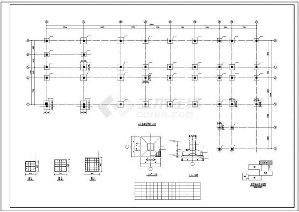 4层坡面住宅建筑cad框架结构设计施工图纸-图二