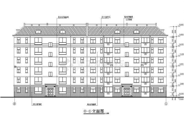 某二线城市豪华独栋别墅建筑设计图-图一