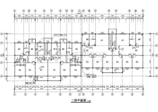 某二线城市豪华独栋别墅建筑设计图-图二