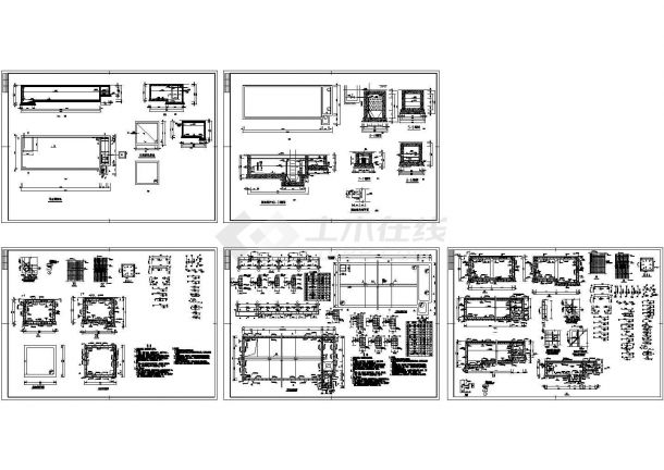 某水处理厂污水调节池设计cad全套工艺施工图(含设计说明,含建筑、结构设计)-图二