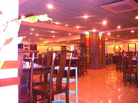 某现代风格中式餐厅室内装修设计cad详细施工图( 带效果图)-图二