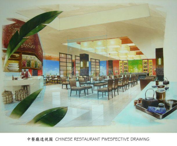 某五星酒店中餐厅室内精装修设计cad全套施工图( 带效果图)-图一