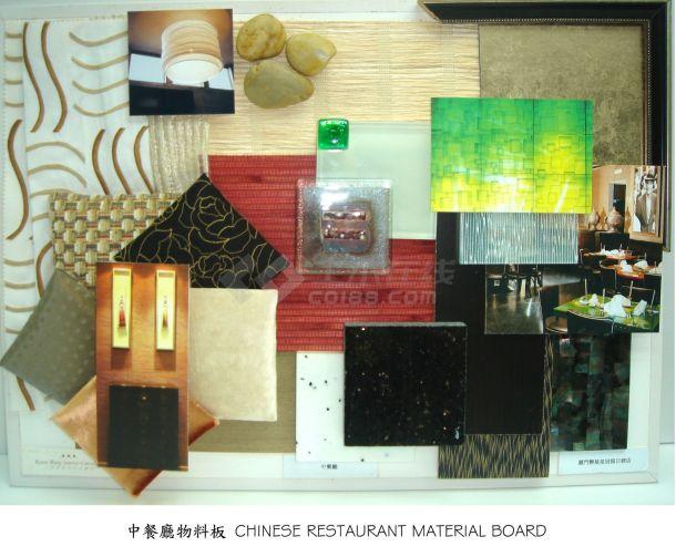 某五星酒店中餐厅室内精装修设计cad全套施工图( 带效果图)-图二