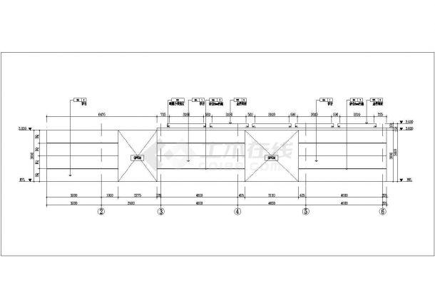 浙江某五星级酒店二层餐厅室内装修设计cad全套施工图(附效果图)-图一