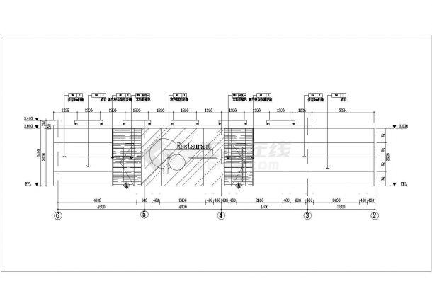 浙江某五星级酒店二层餐厅室内装修设计cad全套施工图(附效果图)-图二