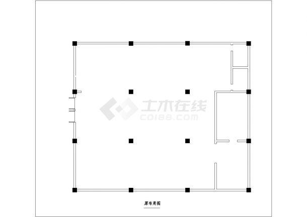 某中式古典风格餐厅室内装修设计cad全套施工图(附效果图)-图一