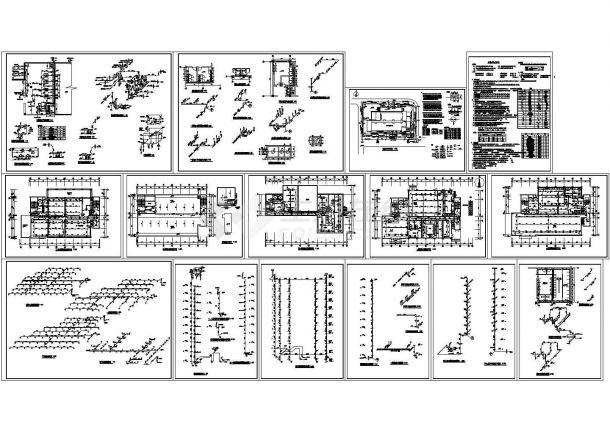 某地区高层办公楼给排水设计施工图纸CAD-图二