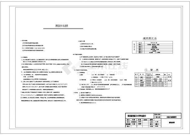 大连儿童医院(五层钢筋混凝土结构)设计cad全套建筑施工图(含设计说明,含结构设计)-图一