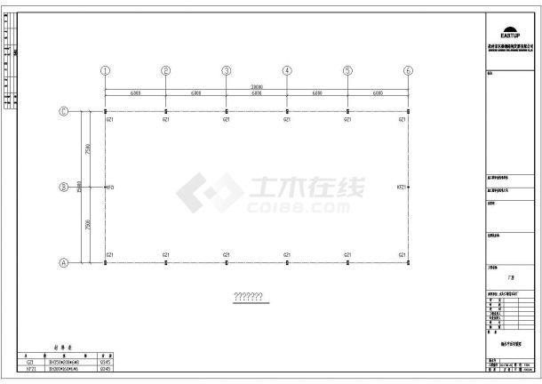 水头仁福某石材厂施工方案设计全套CAD图-图一