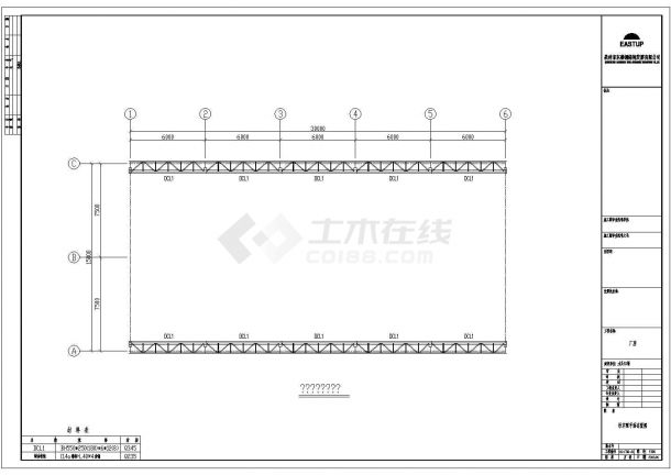 水头仁福某石材厂施工方案设计全套CAD图-图二
