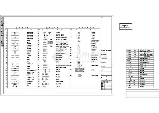 [施工图][天津]大型办公综合楼暖通空调全套cad施工图纸103张-图二
