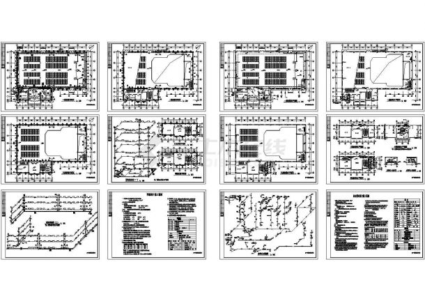 某中学教学楼给排水设计图 包含着给水排水设计施工说明-图一