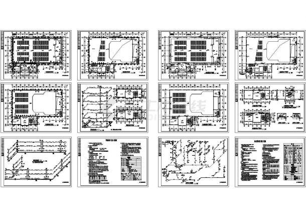 某中学教学楼给排水设计图 包含着给水排水设计施工说明-图二