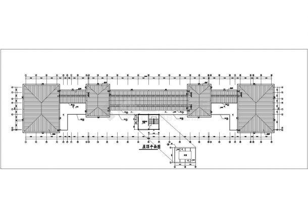 杭州某大学1.6万平米6层框架结构教学楼平立面设计CAD图纸-图一