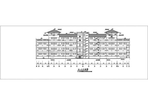 杭州某大学1.6万平米6层框架结构教学楼平立面设计CAD图纸-图二