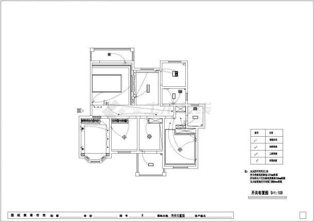 欧式风格公寓全套装修施工图-图一
