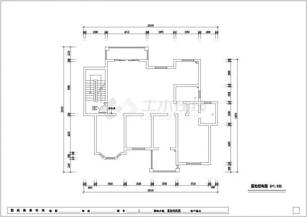 欧式风格公寓全套装修施工图-图二
