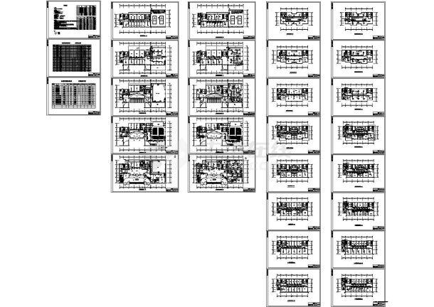 北方某二十三层办公楼多联机系统设计cad图,共二十九张-图一