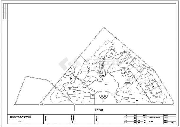 北戴河奥运主题公园景观设计cad方案-图一